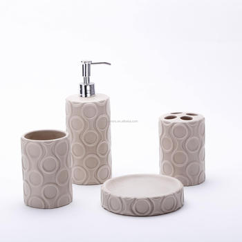 4pcs set bathroom ceramic toothbrush holder and soap dish bath sets
