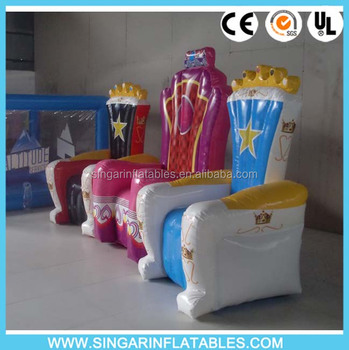 Pink Inflatable Princess Chair For Kids/inflatable Kids Chairs