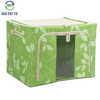 Attractive New Design Foldable Fabric Storage Box For Bedding,Clothes,Large Visual  Window Storage Box