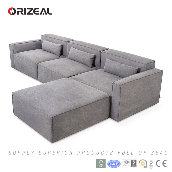 ORIZEAL HIGH-END SIMPLE SECTIONAL SOFA (OZ-MS-6012B)