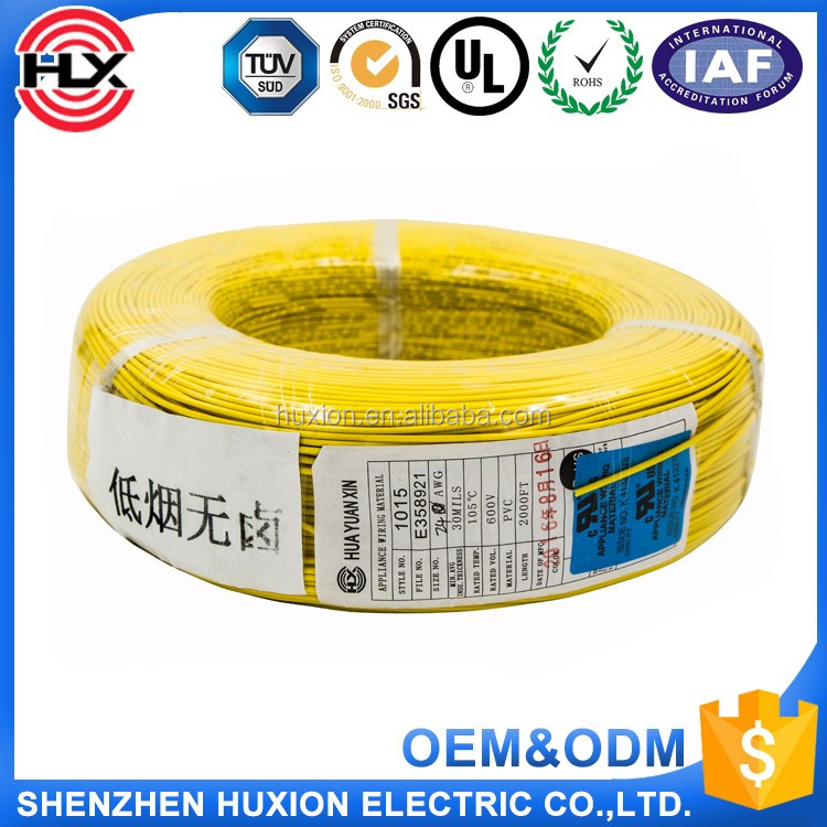 China manufacture buy electrical cable UL1007 18AWG~30AWG where to buy electrical wire