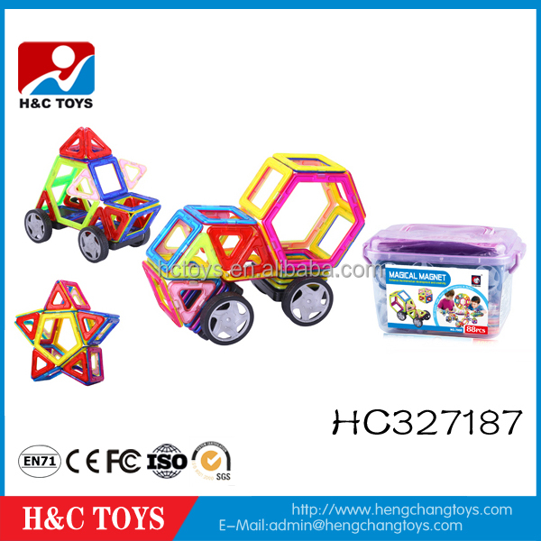 88pcs children plastic toy connecting blocks magnetic building blocks HC327187