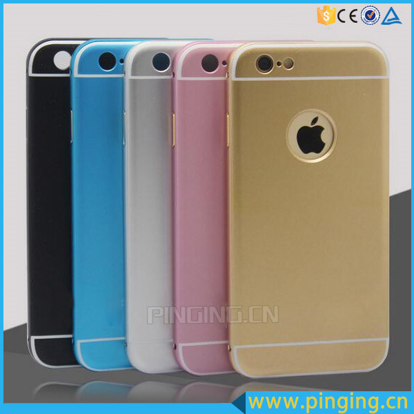 New Coming Metal Aluminium Bumper+PC Back Cover Mobile Phone Case for iPhone 6s/6 Plus 5s/se