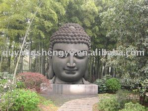 large eastern marble buddha statue