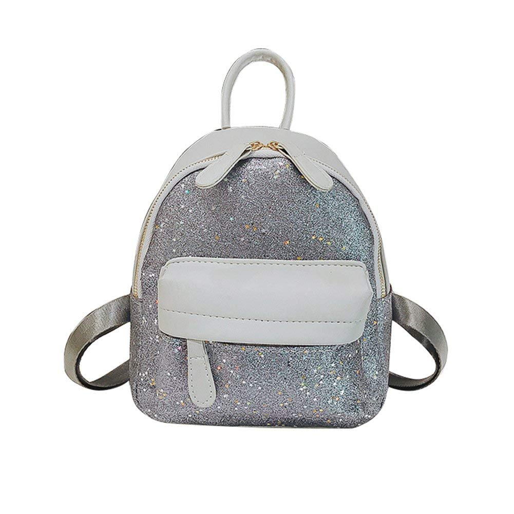 365b64b698da Get Quotations · Slendima Fashion Sequin Tiny Star Decor Faux Leather Women  Backpack School Travel Shoulder Bag