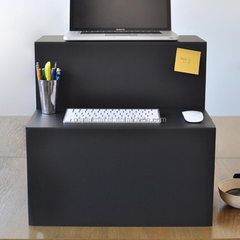 Welcome Cardboard Laptop Stand Portable Standing Computer Desk