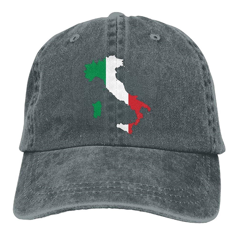 Get Quotations · Enpengd Italia Italy Italian Map Newest Men   Women  Adjustable Denim Cotton Baseball Hat Asphalt 189f9d502