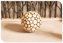 Chinese restaurant decoration wood balls for decoration
