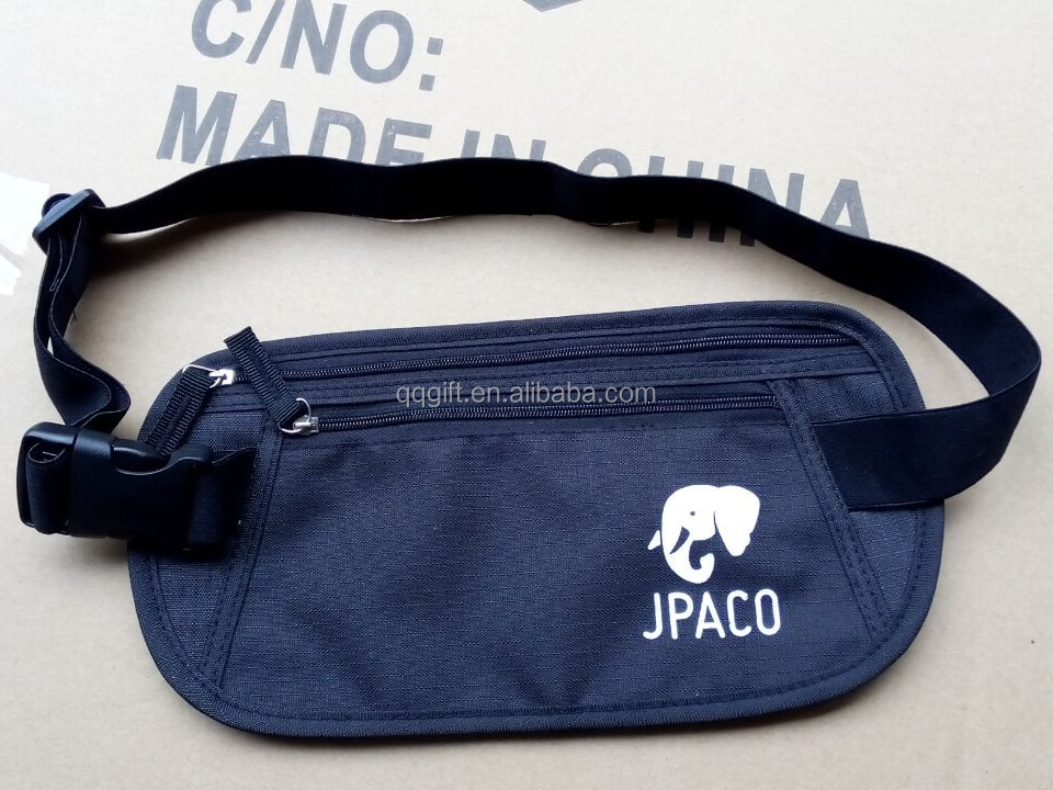 Rfid Blocking Money Waist Bag Nylon Ripstop Security Waterproof ...