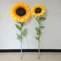 hot sale latest design large size sunflower for indoor or outdoor decoration