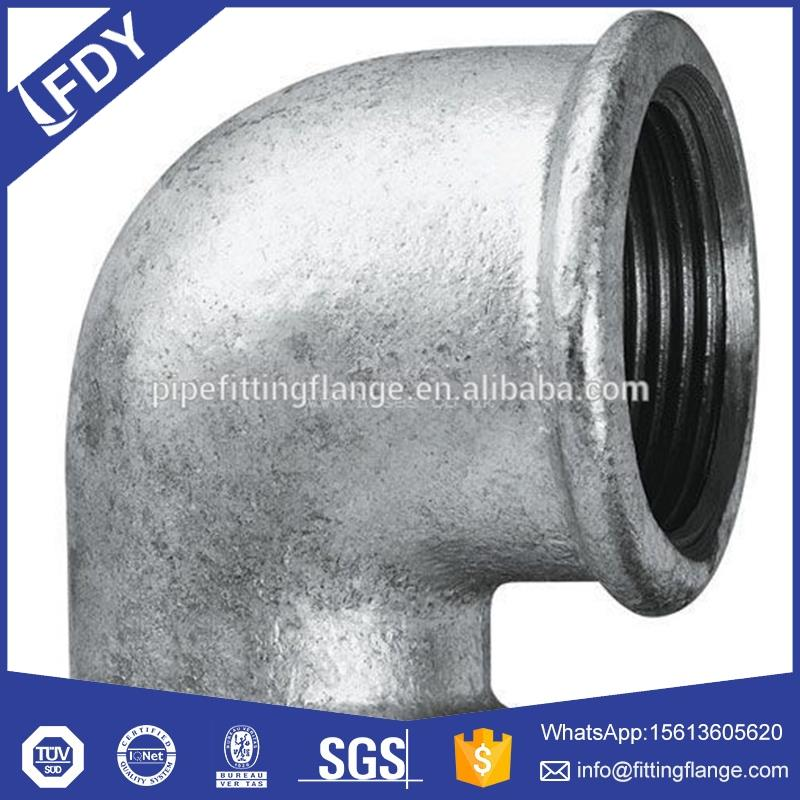 Malleable Ductile Cast Casting Black / Galvanized Iron Pipe Fitting 90 elbow