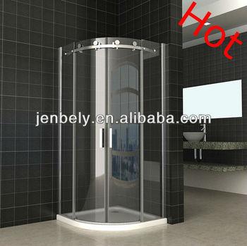 Semi Frameless Curved Sliding Door Shower Screen 900X900X1950