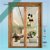 Swinging casement exterior door with wood and aluminum cladding