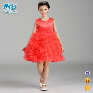 New Design Factory Direct Children Clothing Kids Wedding Dress Girls Cupcake Pageant Dress With High Quality LM8282