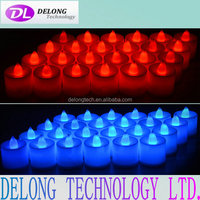 electronic candle led lights from China supplier Delong