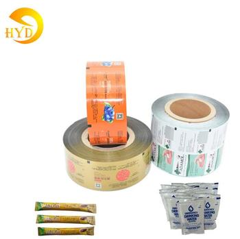 Food plastic packaging coated aluminum foil laminated laminating wrapping paper pouch packing roll film material for sachet