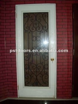 Steel door with full view glass full view panel steel door for Full view exterior door