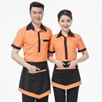 catering coffee bar hotel restaurant staff uniform for waiters waitress