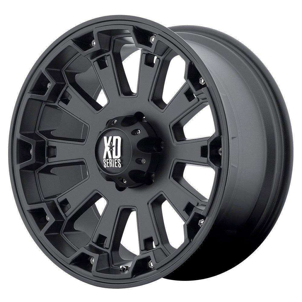 22 Inch 22x10 KMC XD SERIES wheels MISFIT Matte Black wheels rims