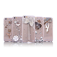 cover for apple iphone 7, fancy Diamond cell phone back cover case for apple iphone 6 plus