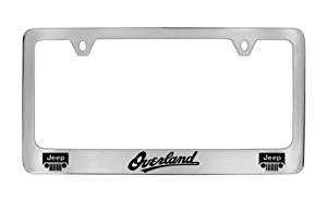 Jeep Overland Chrome Plated Metal License Plate Frame Holder