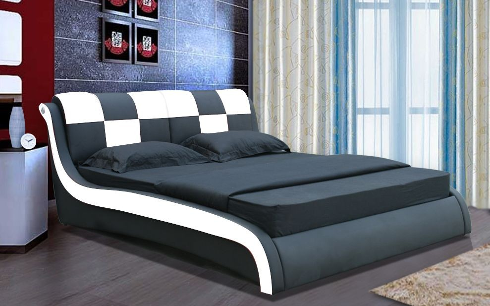 Modern Italian Bedroom Furniture Set King Size Sheets Wave Cheap  Black/white Soft Synthetic/pu/genuine Leather Bed Luxury - Buy Luxury King  Size Bed ...