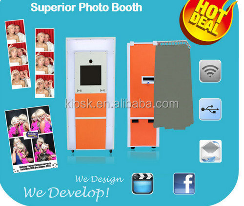 most portable photo booth kiosk for rental