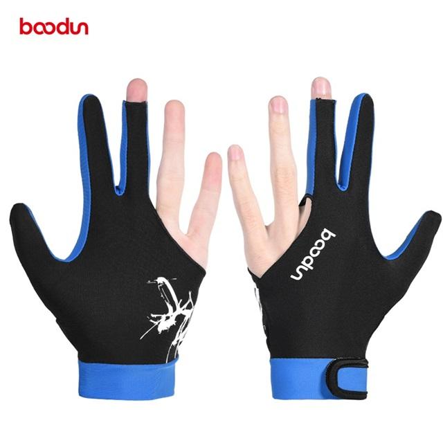 Boodun высокое качество спандекс материал цвета OEM перчатка для игры на бильярде