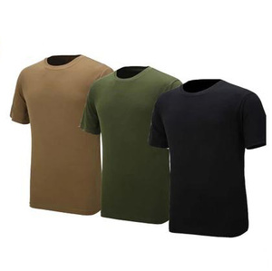 wholesale military style 100%polyester mesh army green blank dri fit t shirts
