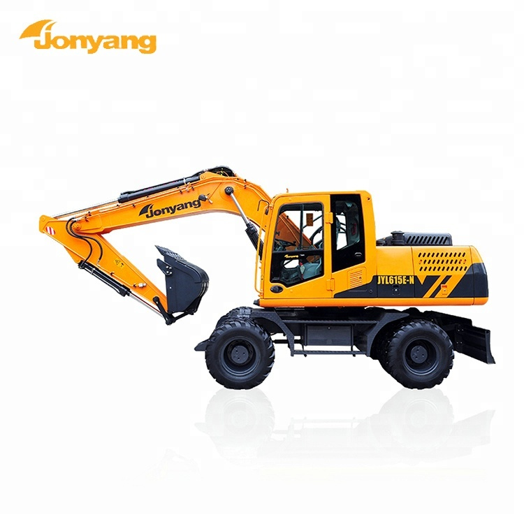 China made heavy duty wheeled 15 ton excavator