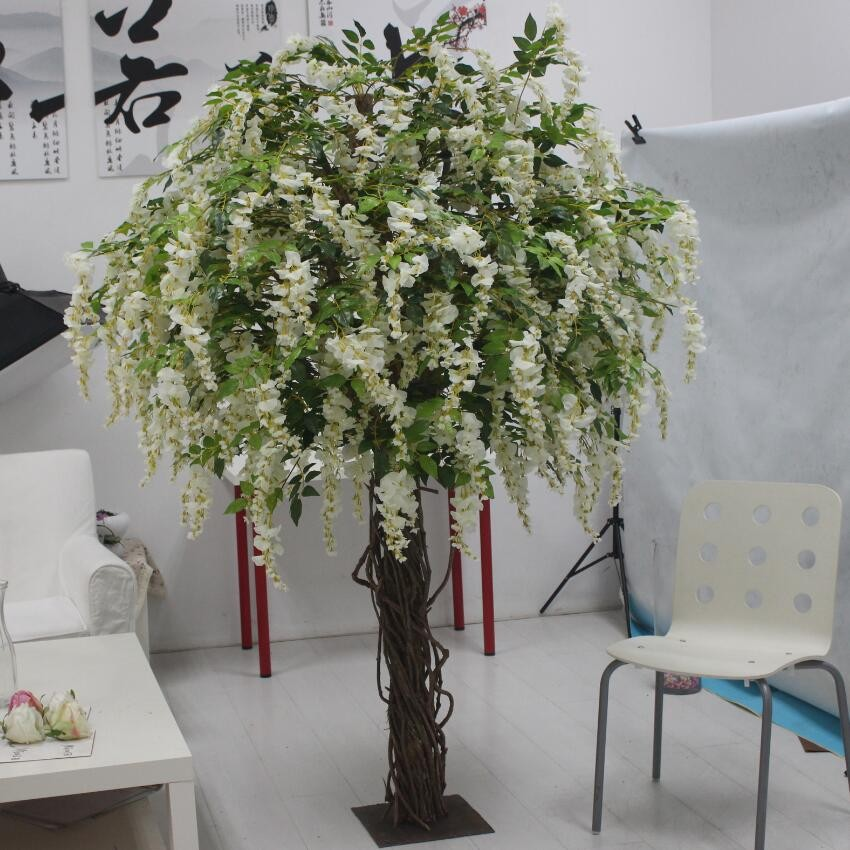 2016 Manufacturer Beautiful Fake Indoor Wisteria Flower Pot Tree ...
