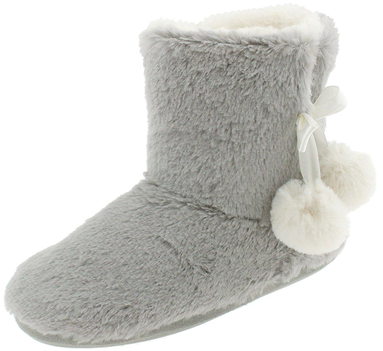 Capelli New York Ladies Long Pile Bunny Fur Boot