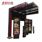 Aluminum waterproof advertising outdoor menu led lightbox