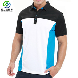 Customized 2018 latest Polyester/spandex blend Moisture wicking golf polo t shirts