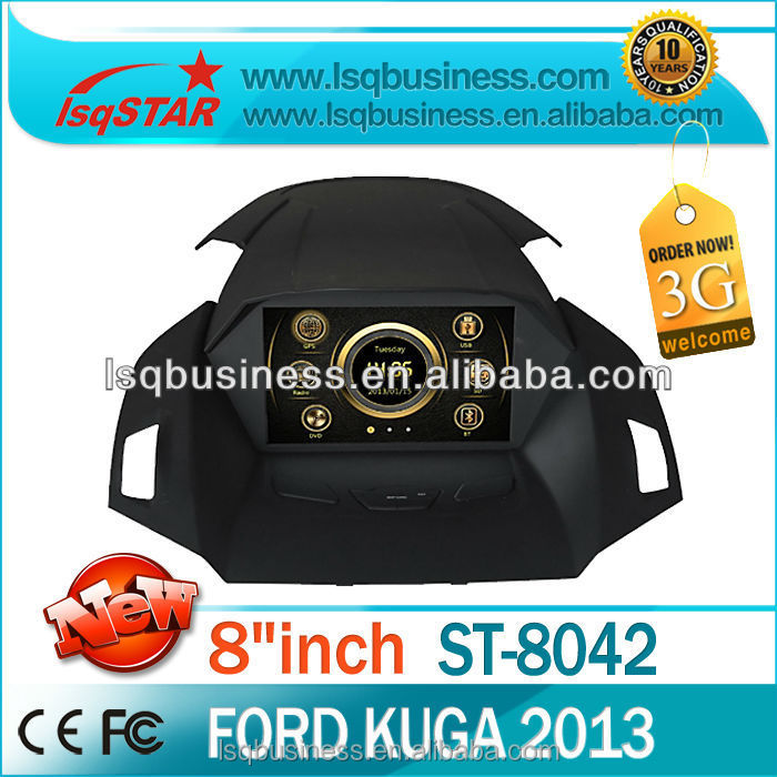 LSQ star Car DVD Player for Ford Kuga with Capatitive andriod 4.2 screen,GPS, BT,ridio, fuction