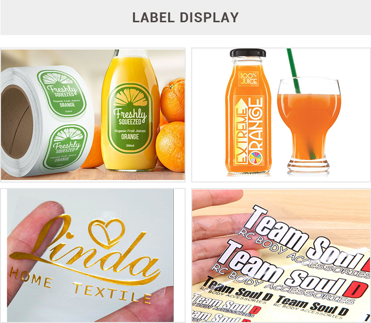OEM PE transparent roll bottle sticker perfume label sticker