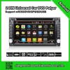 2DIN Universal DVD 6.2inch touch screen dvd car android with GPS BT AUX USB SD 1080P