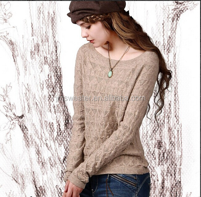 Stylish Boat Neck Sweater Knitting Pattern For Ladies Buy Wool
