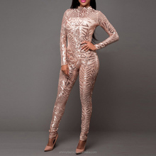 Sequin <span class=keywords><strong>Jumpsuit</strong></span> Vrouwen Zwart Mouwloos En Lange Mouwen Bodycon Jumpsuits Sexy Rompertjes Glitter Club Party Overalls