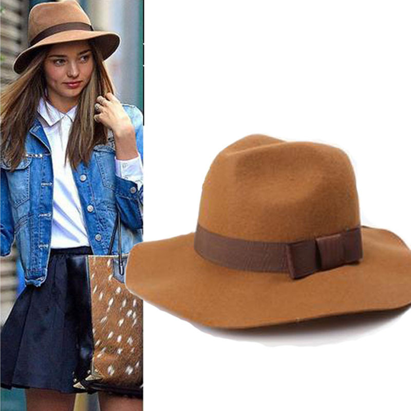 Get Quotations · High Quality Fashion Autumn Women Hat Black Wool Fedora  2015 Women Bucket Hats Free Shipping dbb87ba1f5e