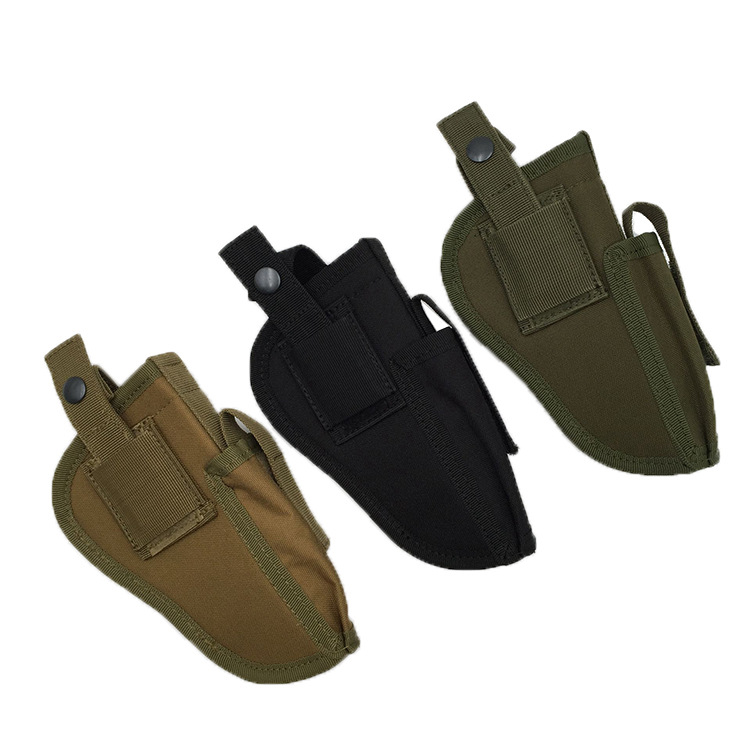 Tactical EDC Right Left Interchangeable Pistol Hand Gun Holster Molle Vest Pouch Hunting Accessories