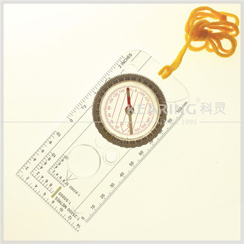 Kearing Rigid Plastic Clear Military Compass For Army Soldier Expedition / Army Compass # KMC-1