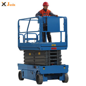 6-14m 200kg 500kg cheap price hydraulic battery power mini small electric scissor lift with CE ISO certification