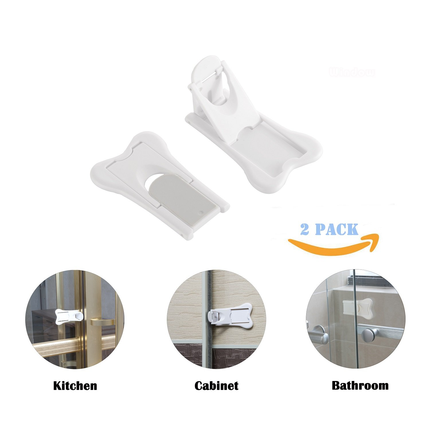 Baby Proof Lock for Patio Sliding Door Lock for Child Safety 4 Pack Shower No Tools Needed- 4Pack Window Closet Wardrobe Childproof Cupboard Kitchen Cabinet Glass Door Latch