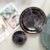 Wholesale western elegant gold rim black marble ceramic plate dinnerware bone china charger plate wedding set