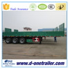 PAYLOAD 30~60 TONS THREE AXLES BULKHEAD DROPSIDE CARGO TRAILER FOR SEMI-TRAILER TRUCK
