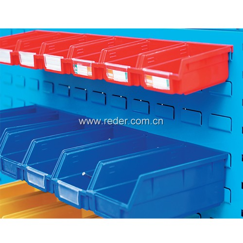 Warehouse parts storage bins plastic stackable storage bins
