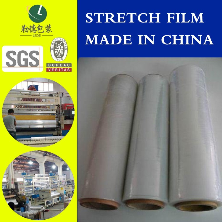 20 micron stretch film for pallet shrink wrap film from lede