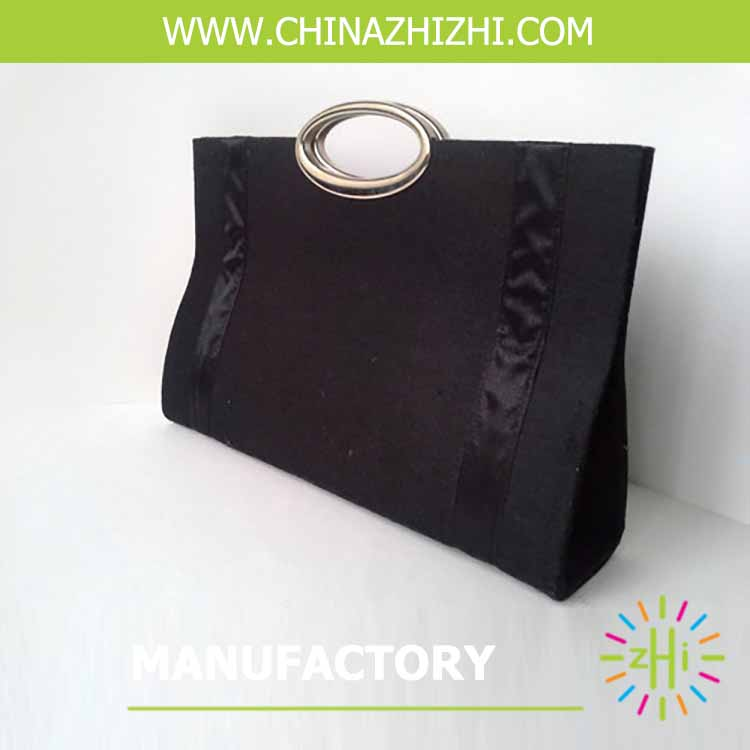 customized new style black non woven bag hand bag lady fashion bag