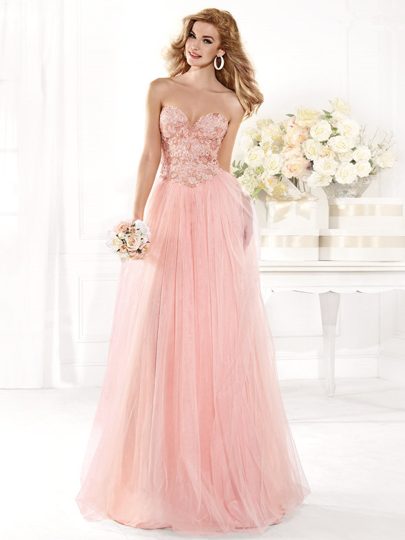 INM-277 Best Price Long Prom Dress 2015 Beaded A-line Hot Pink Tulle Elegant Long Prom Party Dress Fashionable Vestido De Noiva